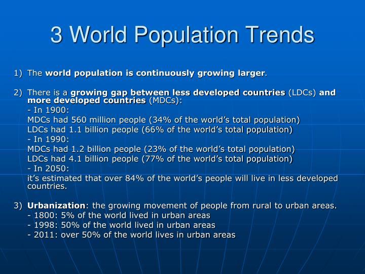 3 world population trends