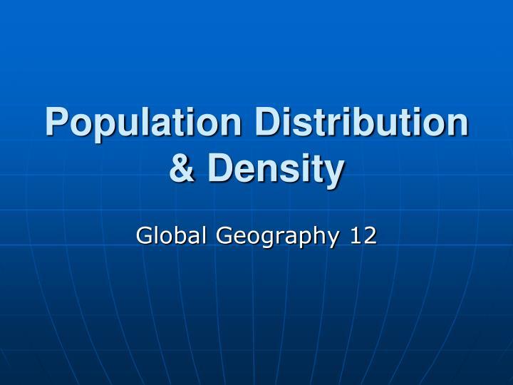 Population distribution density