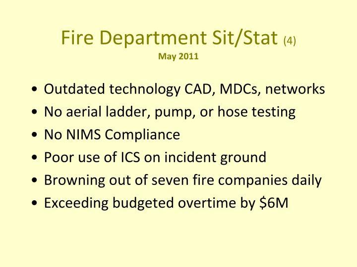 Fire Department Sit/Stat