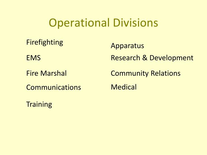 Operational Divisions