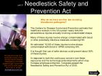 part 6 needlestick safety and prevention act