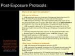 post exposure protocols1