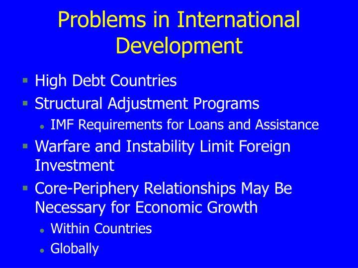 Problems in International Development