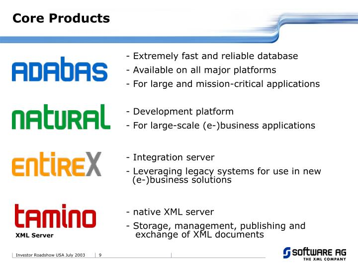 - Extremely fast and reliable database