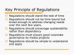 key principle of regulations