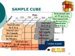 sample cube