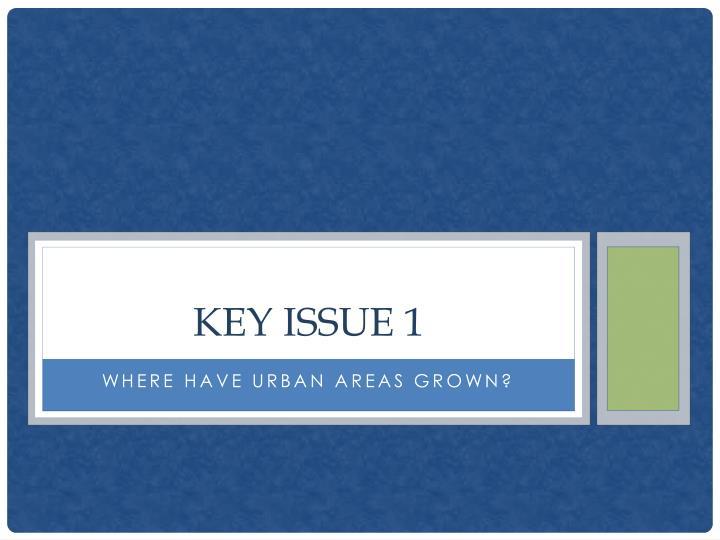 Key issue 1