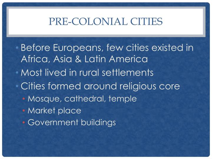Pre-colonial Cities