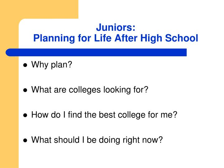 Juniors planning for life after high school1