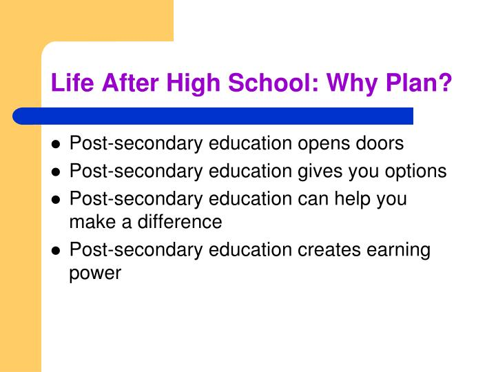 Life After High School: Why Plan?