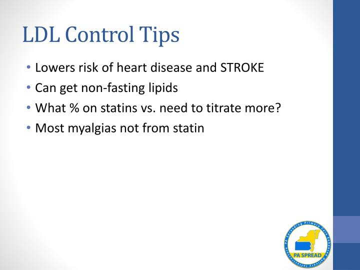LDL Control Tips