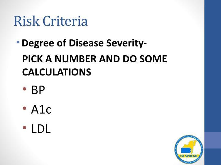Risk Criteria
