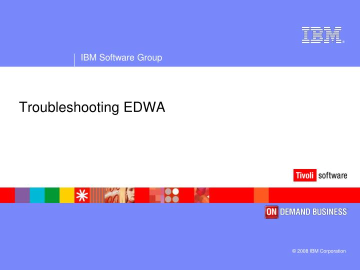 Troubleshooting EDWA