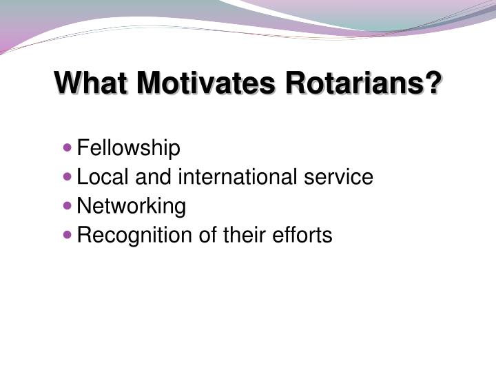 What Motivates Rotarians?