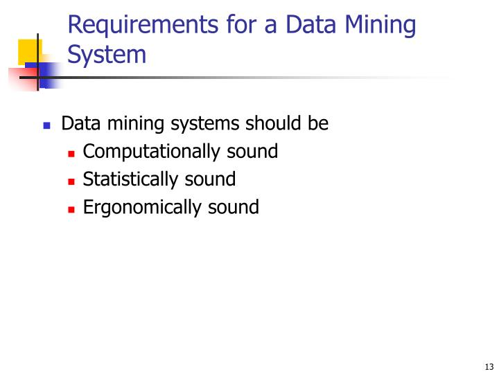 Requirements for a Data Mining System
