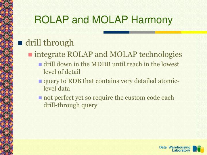 ROLAP and MOLAP Harmony