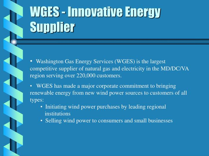 Wges innovative energy supplier