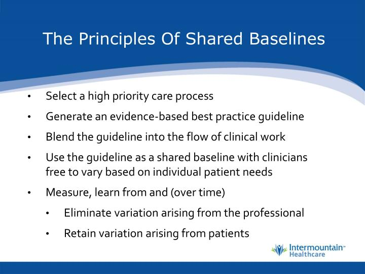 The Principles Of Shared Baselines