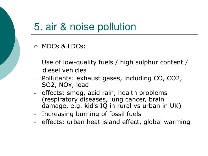 5. air & noise pollution