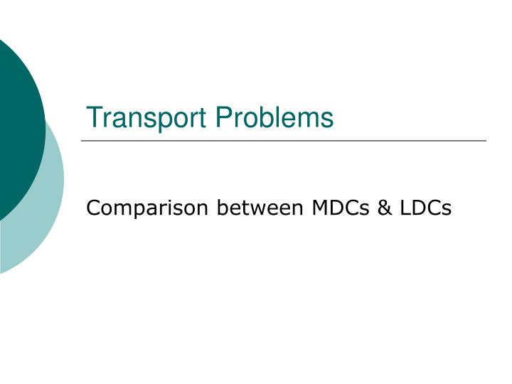 Transport problems