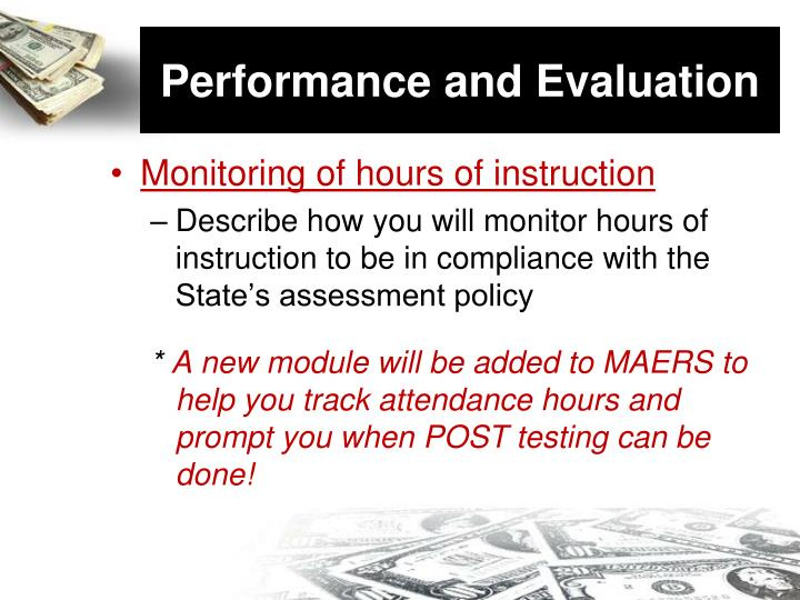 Performance and evaluation1