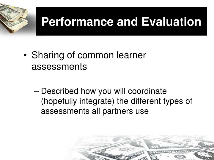 Performance and Evaluation