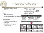 deviation detection