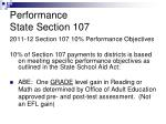 performance state section 107