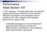 performance state section 1072