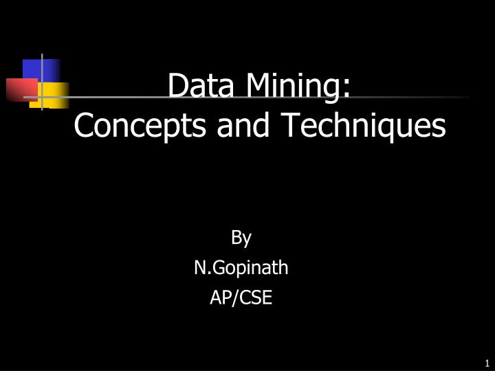 data mining concepts and techniques n.