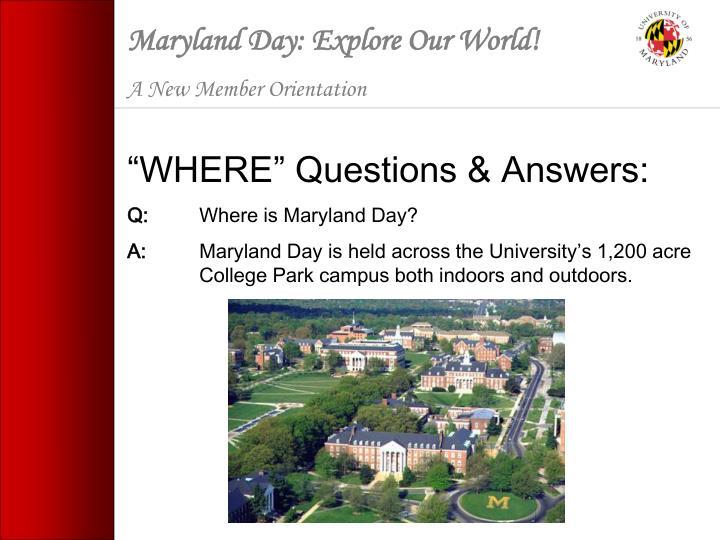 Maryland Day: