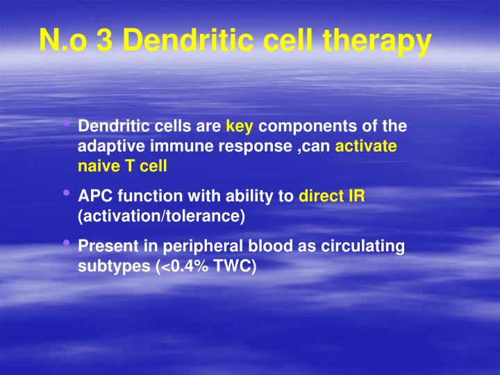 N.o 3 Dendritic cell therapy