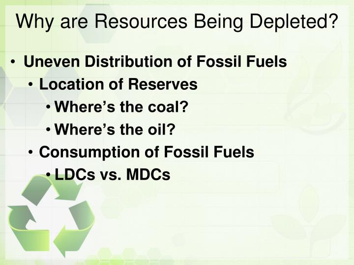 Why are Resources Being Depleted?