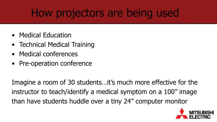 How projectors are being used