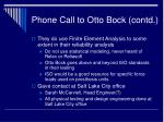 phone call to otto bock contd