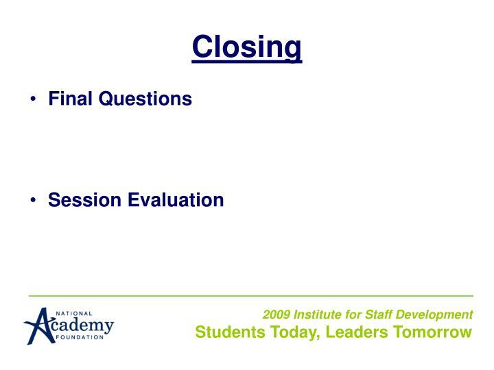 Closing