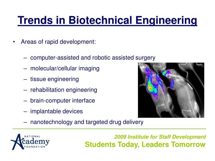 Trends in Biotechnical Engineering