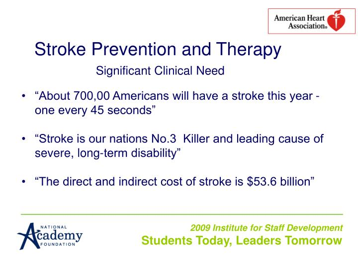 Stroke Prevention and Therapy
