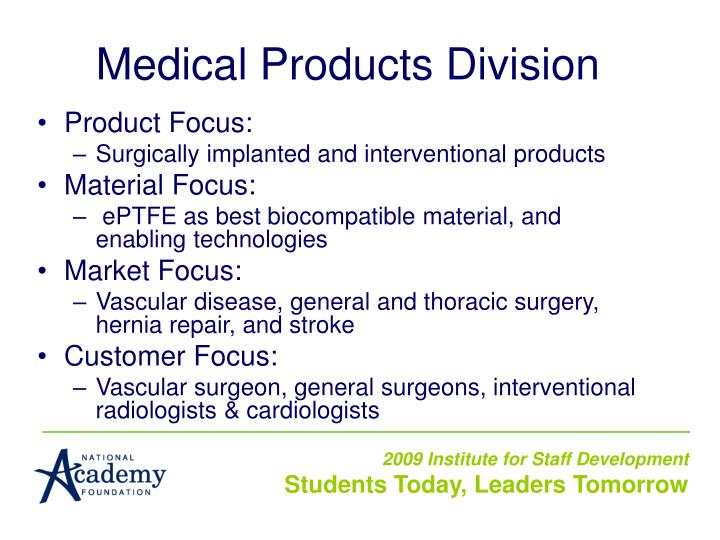 Medical Products Division