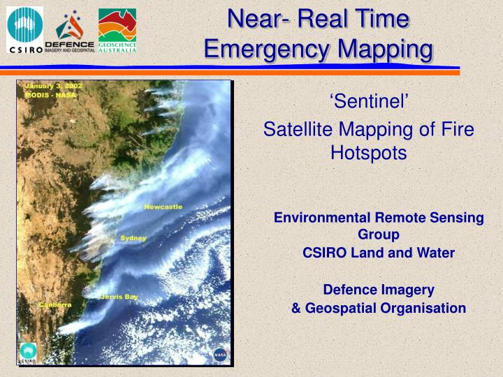 Near real time emergency mapping