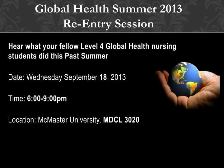 Global Health Summer