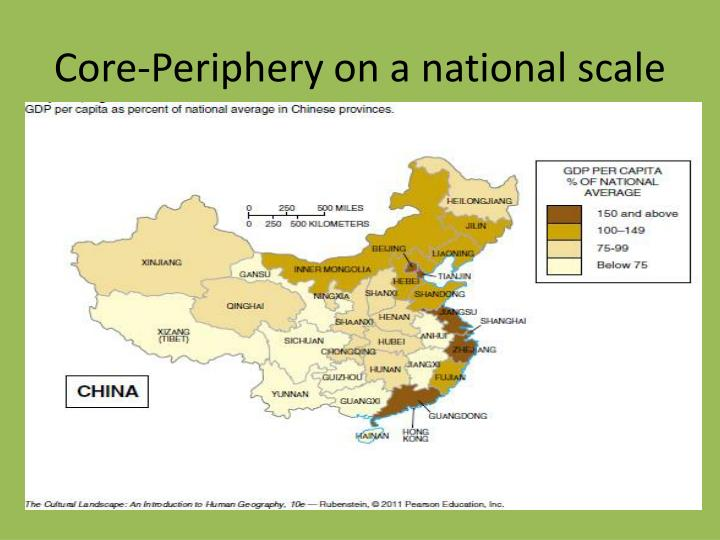 Core-Periphery on a national scale