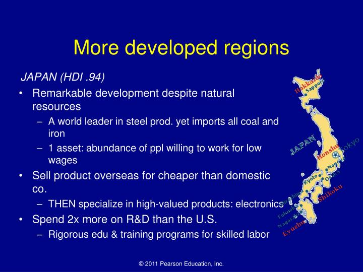 More developed regions