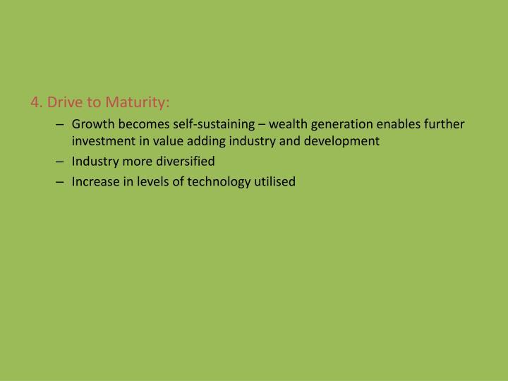 4. Drive to Maturity: