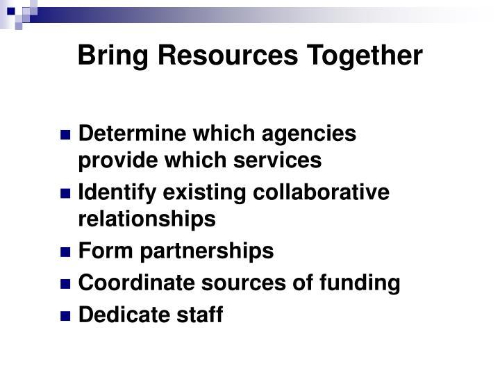 Bring resources together
