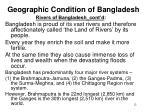 geographic condition of bangladesh11