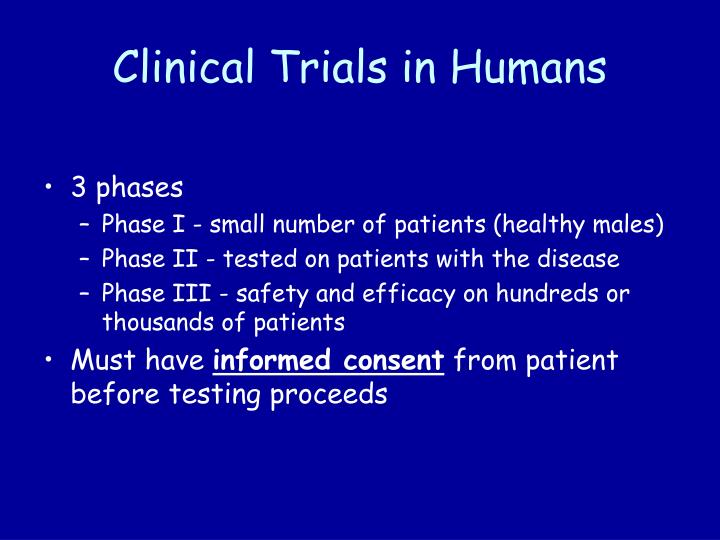 Clinical Trials in Humans