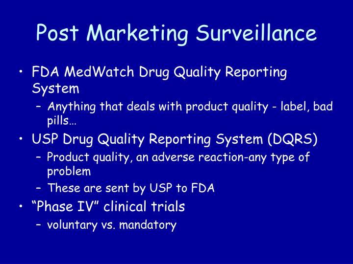 Post Marketing Surveillance
