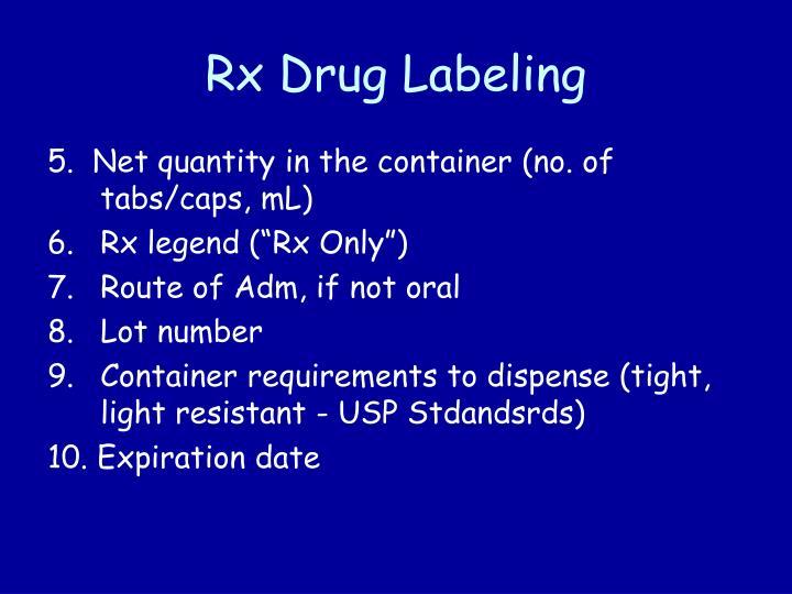Rx Drug Labeling