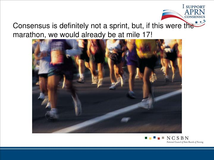 Consensus is definitely not a sprint, but, if this were the marathon, we would already be at mile 17!